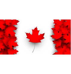 Flag of canada design concept vector