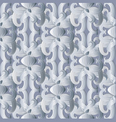 floral white seamless pattern hand drawn vector image