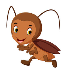 funny cockroach running vector image