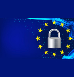 Gdpr background padlock protection of vector