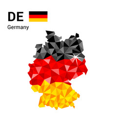 Germany flag map in polygonal geometric style vector