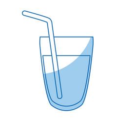 glass water beverage fresh straw detox vector image