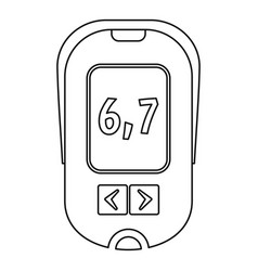 glucometer icon outline style vector image