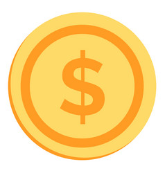 gold coin with dollar sign vector image