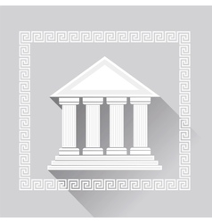 Greek pillars icon vector