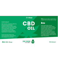 green cannabis oil cbd oil marijuana leaf vector image