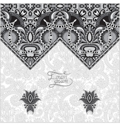 grey oriental decorative template for greeting vector image