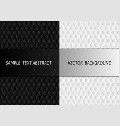 Hexagon white and black abstract background with vector