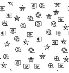 hollywood movie production star seamless pattern vector image