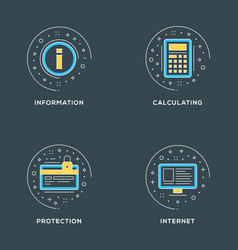 Information calculating protection internet set vector