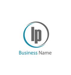Initial letter lp logo template design vector