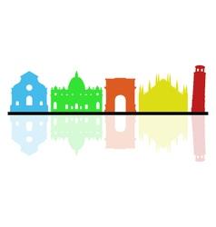 Italy skyline vector image