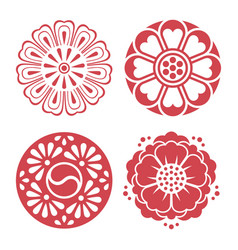 Korean traditional design elements vector
