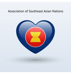 Love Association of Southeast Asian Nations symbol vector