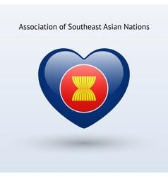 Love association southeast asian nations symbol vector