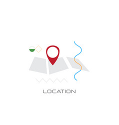 map navigation app geo tag location position vector image