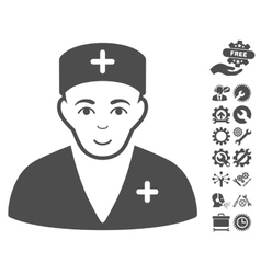 Medic Icon With Tools Bonus vector