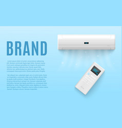 Mockup banner with air conditioning system vector
