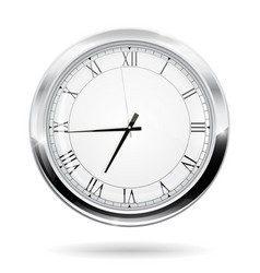 Modern clock with roman numerals vector