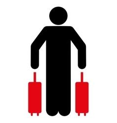 Passenger Luggage Flat Icon vector image