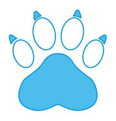 Paw print symbol vector
