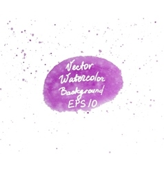 Pink and purple watercolor hand painted oval shape vector image