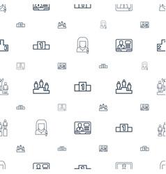 Podium icons pattern seamless white background vector