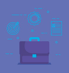 portfolio with social media marketing icons vector image