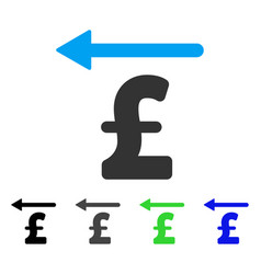 Pound moneyback flat icon vector
