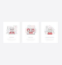 professional training - line design style icons vector image