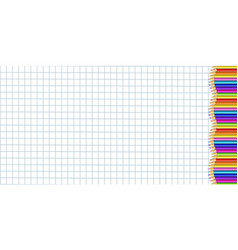 Rectangle right side border made of colorful vector