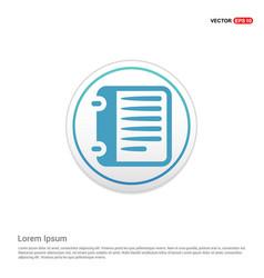 report list icon - white circle button vector image