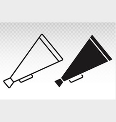Retro old megaphone flat icon for apps vector