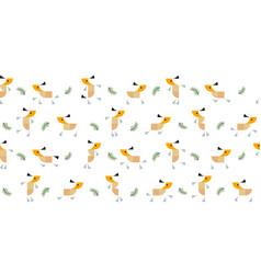 roe deers pattern vector image