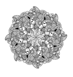 Round element for coloring book vector image