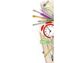 School and office supplies EPS 10 vector image