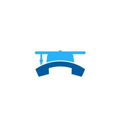School call logo icon design vector