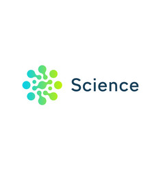 science circle icon green and blue circles vector image