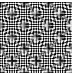 Seamless 3d checked pattern vector
