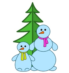 snowballs with furtree vector image
