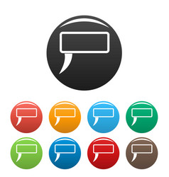 Speech bubble icons set color vector