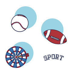 Sport equipment and accesories vector