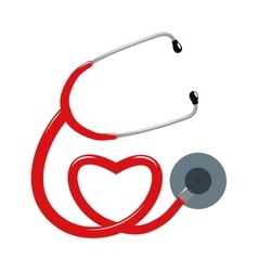 Stethoscope and heart icon Medical and Health vector