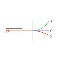 Types radioactivity alpha beta and gamma rays vector