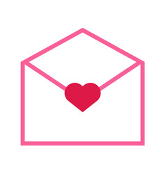 valentine love letter outline graphic vector image