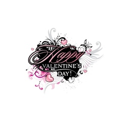 Valentines Day grunge inscription vector image