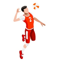 Volleyball 2016 Sports Isometric 3D vector image