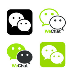 we chat symbol web icon comments color messenger vector image