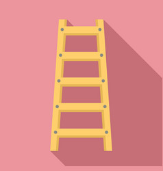 Wood ladder icon flat style vector