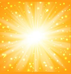 yellow sunburst background vector image